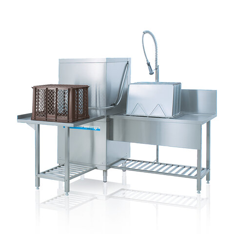 Hood type dishwasher DV low operating costs