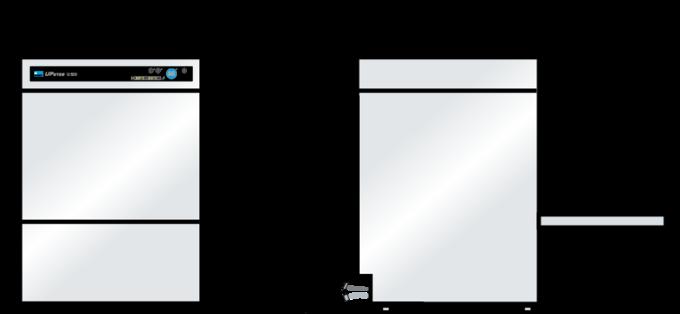 Glasswasher Dimension